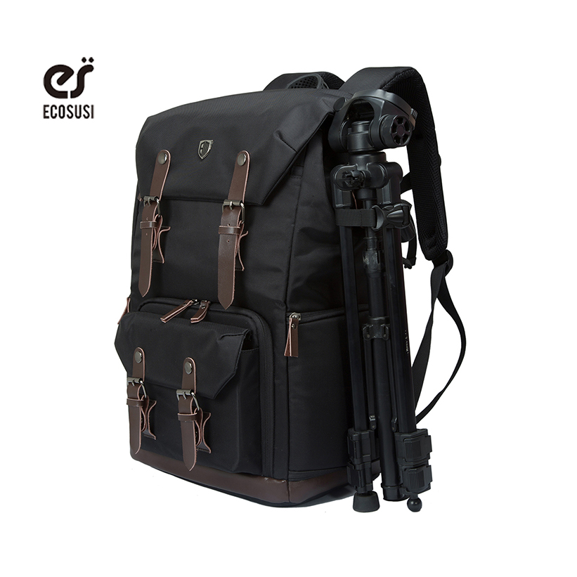 Ecosusi Men Multifunctional Backpack For DSLR Shockproof Waterproof Camera Rucksack Backpack Travel Bag For Canon EOS-100D Nikon high quality army green rucksack canvas backpack camera bag for nikon canon sony dslr camera