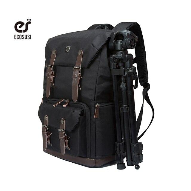 Ecosusi Men Multifunctional Backpack For DSLR Shockproof ...