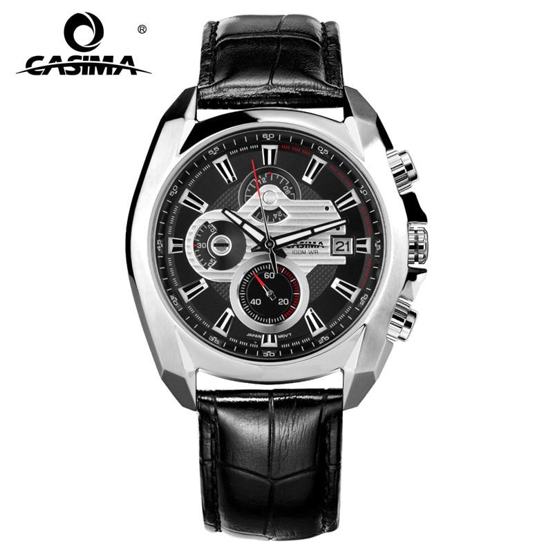 New Luxury Brand Sports Watches Men Quartz Wist Watch Fashion Luminous Waterproof 100m CASIMA #8884 men s watches top luxury brand fashion sports multi functional men quartz watch waterproof luminous casima 8103