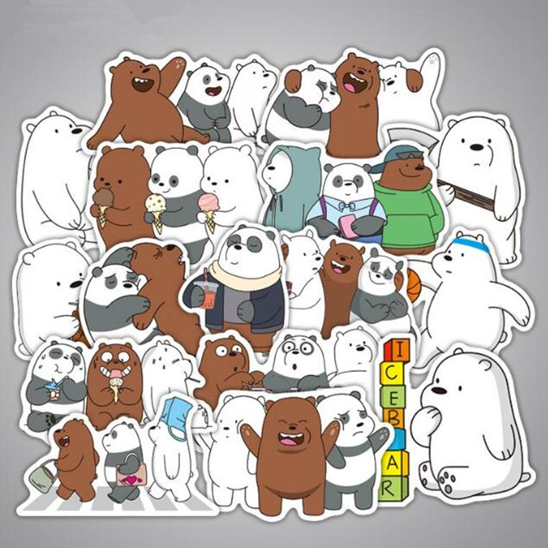 Detail Feedback Questions About 36pcs Lot Cool Cartoon We Bare Bears