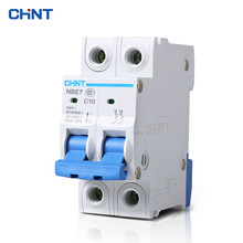 цена на CHNT 2P 10A Miniature Circuit Breaker Household Type C Air Switch Moulded Case Circuit Breaker