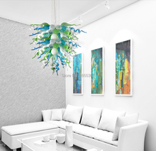 Free Shipping Fanstic Modern Cheap Handmade Hand Blown Glass Chandelier