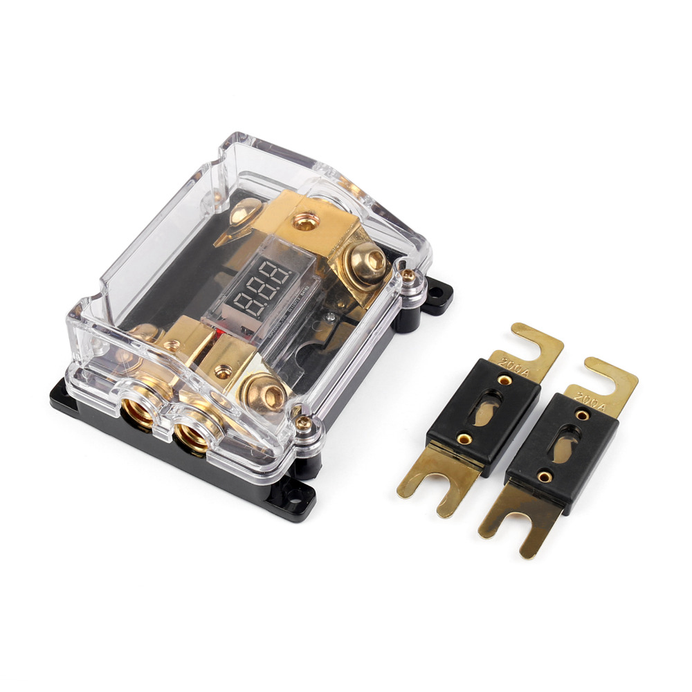 Areyourshop ANL Fuse Holder Car Power Digital Display Heavy Multi Line Base 12V 1/4PCS New Arrival Transparent Holder