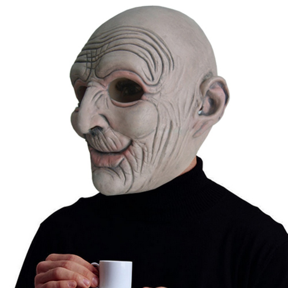 Aliexpress.com : Buy Old Man Rubber Latex Mask Bald Wrinkled Adult ...