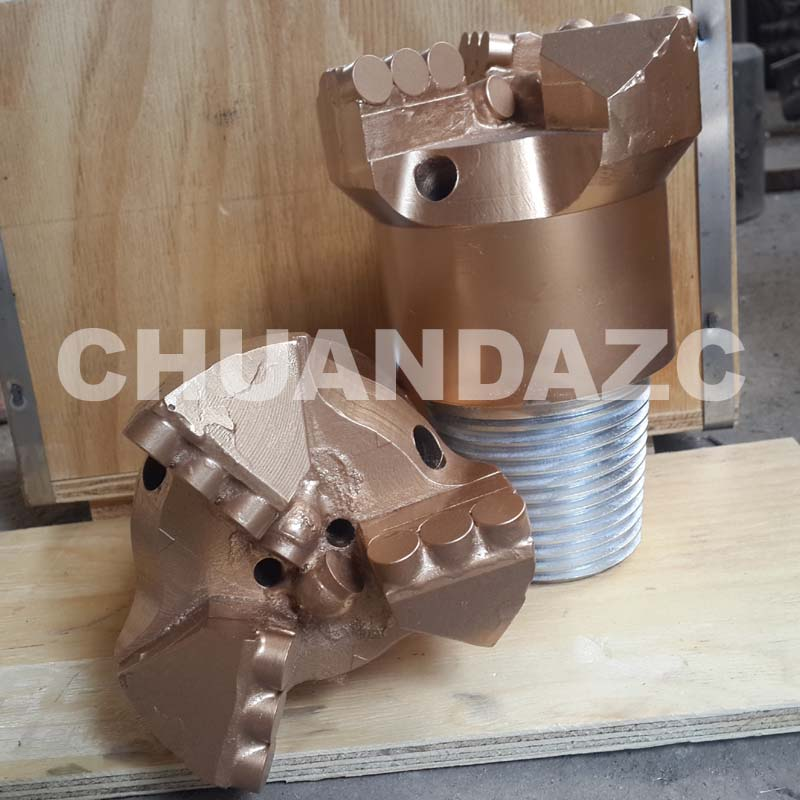 112mm PDC Cutters 3 Drag Drill Bit For Oil And Well Drilling/pdc Cutter Coal Mining Step Drag Bit