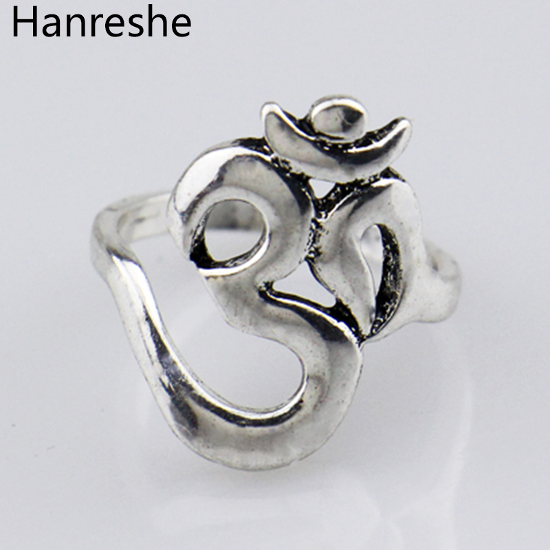 Confident Traditional Hindoo Jewelry,ohm Hindu Buddhist Aum Om Ring Hinduism Yoga India Outdoor Sport Women/men Ring Religious Jewelry Comfortable Feel