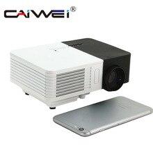 CAIWEI LCD Mini Projetor Multimídia Portátil LED Projetor Home Theater Com Fio Jogo de Vídeo HDMI VGA Sync Melhor Presente para As Crianças