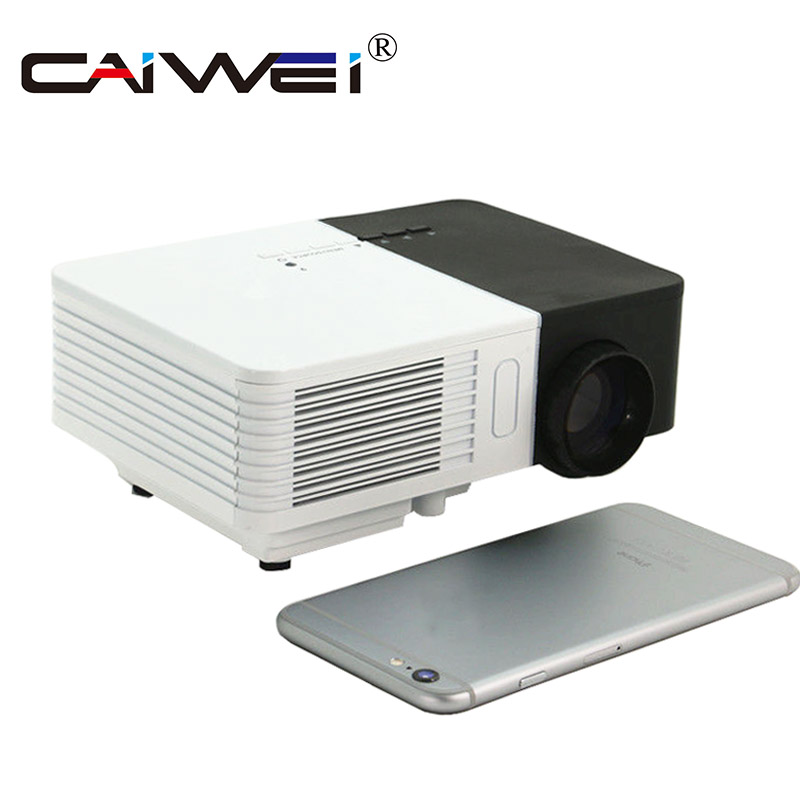 лучшая цена CAIWEI LCD Mini Projector LED Portable Projection Multimedia Beamer Home Cinema Theater Video Game Supported 1080p Full HD