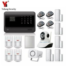 YobangSecurity Android IOS APP WIFI GSM Residence Burglar Alarm System with WIFI IP Digicam Relay PIR Detector Magnetic Door Contact