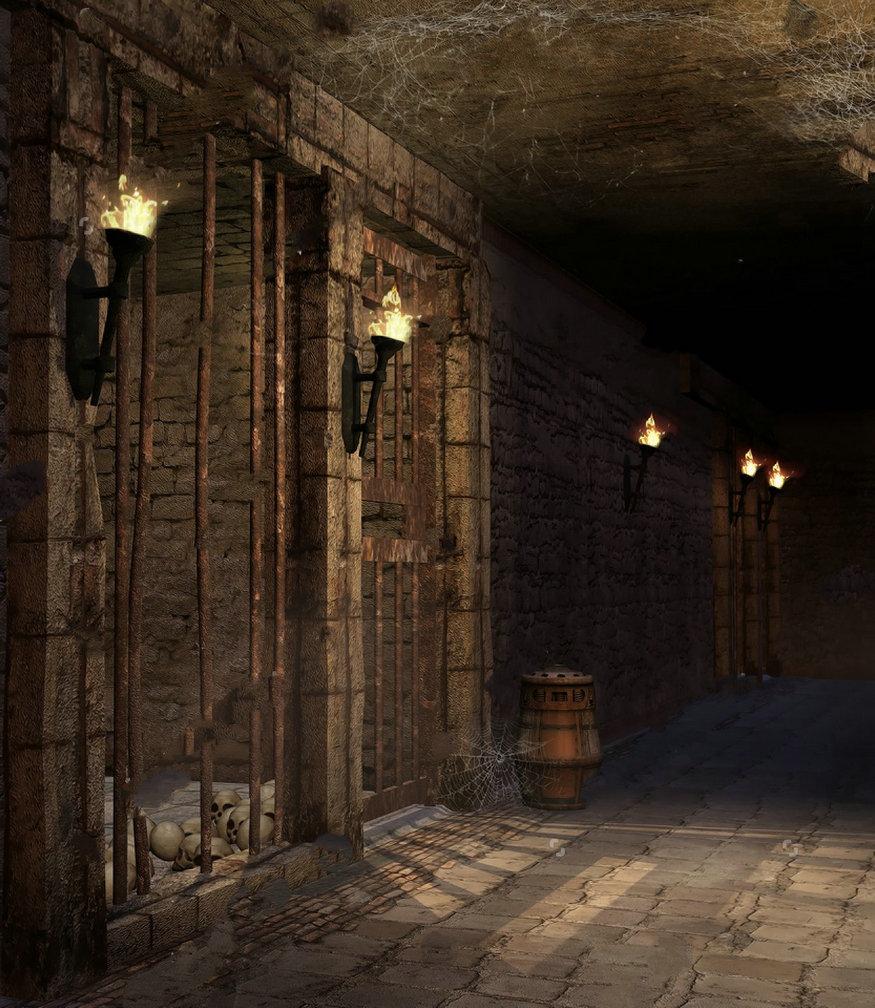 100 Best Corridors Stairs Lighting Images By John: Corridor Torches Barrels Skulls Castle Dungeon Light