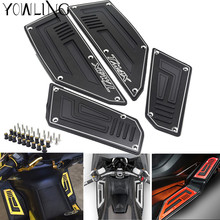 Footrest Pedal Motorcycle Front & Rear Motorbike Footboard Steps Foot Plate for Yamaha TMax530 T Max TMax 530 2012 2013 14 15 16 цена 2017