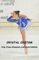 Figure Skating Dress For Children Graceful New Brand Competition Figure Skating Dress Custom DR4012