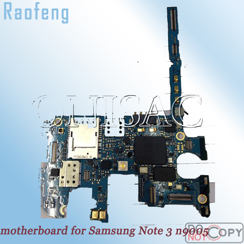 Raofeng  unlocked motherboard  for  Samsung galaxy note 3  n9005 mainboard Disassembled   EU version  Logic Board with chips(China)