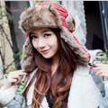 2016 Fashion Warm Deer Bomber Hats Women Winter Hat Cap Outdoors Hat Snow Woman Winter Hats Ear Protection Cap 06