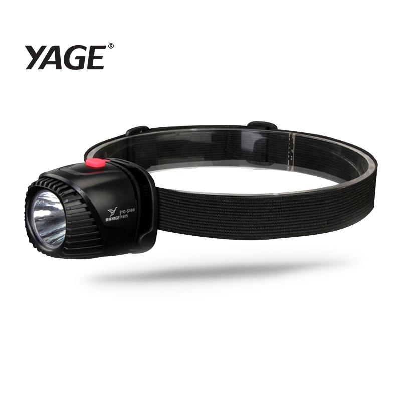 YAGE faro recargable lámpara de cabeza Led luces en la frente linterna LED Lintern táctil Mini pesca Lanterna