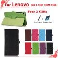 Для Lenovo Tab 3 730F 730 М 730X7 inch tablet Высокого качество чехлы для Lenovo TB3-730F TB3-730M Pu Кожаный Чехол Обложка + бесплатный 3 подарки