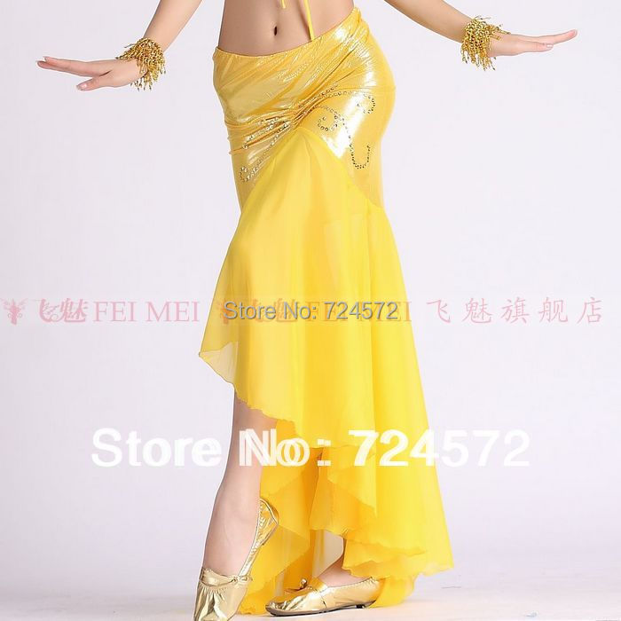 Belly Dance Clothes Sexy Gold Point Cloth Fishtail Skirt Belly Dance Skirt For Women Belly Dancing Skirts