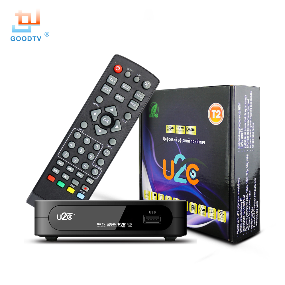 U2C DVB-T Smart TV Box HDMI DVB-T2 T2 STB H.264 HD TV Digitalen Terrestrischen Receiver DVB T/T2 Set-top-boxen Kostenloser Tv Russland