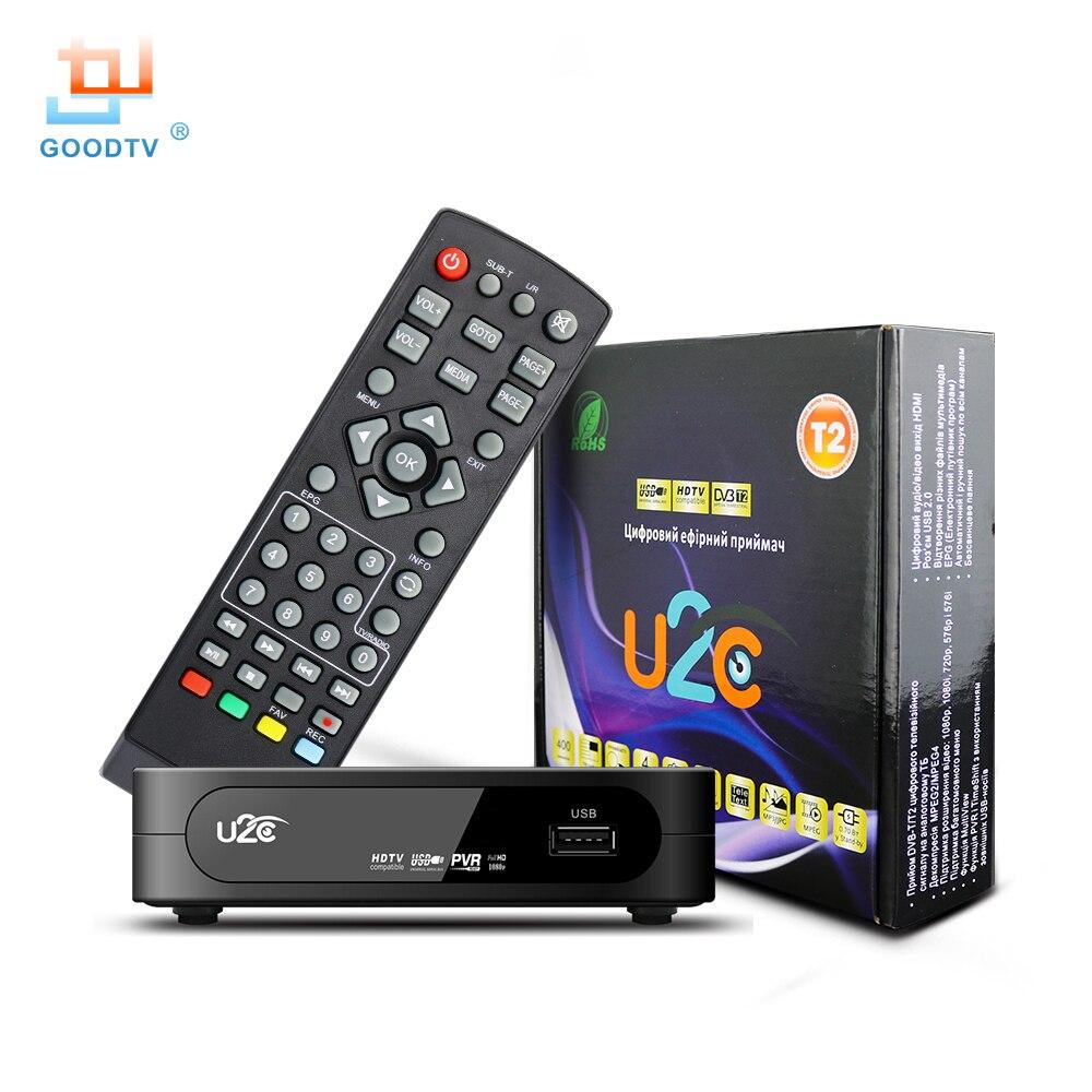 U2c dvb-t Televisiones inteligentes caja HDMI DVB-T2 T2 STB H.264 HD TV receptor digital terrestre DVB T/T2 Decodificadores envío TV Rusia