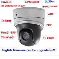 Hikvision DS 2DE2204IW DE3 W 2MP Network WIFI IR20m Mini PTZ Camera Indoor 4xPOE