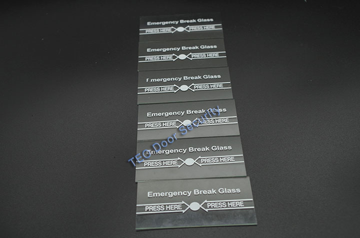 100Pcs Per Lot Emergency Break Glass FULL ENGLISH911 Alarm Button for Fire and Emergency A part