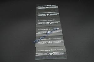 Image 1 - 100 個あたりロット緊急ブレークガラスフル ENGLISH911 警報ボタン火災と緊急アクセスシステムの一部