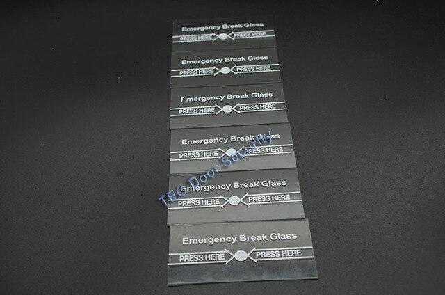100 個あたりロット緊急ブレークガラスフル ENGLISH911 警報ボタン火災と緊急アクセスシステムの一部