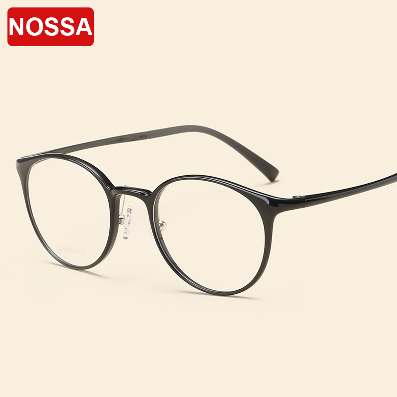 Vintage Korea Fashion Glasses Frame Women And Men ULTEM Round Trendy Ultralight Eyewear Frames Myopia Prescription Optical