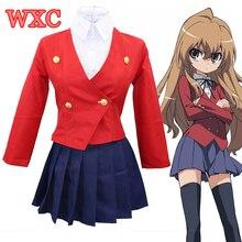 Japón Anime DRAGON TIGER Toradora Aisaka Taiga Cosplay School Uniform Sexy Disfraces de Halloween Para Las Mujeres WXC Salior