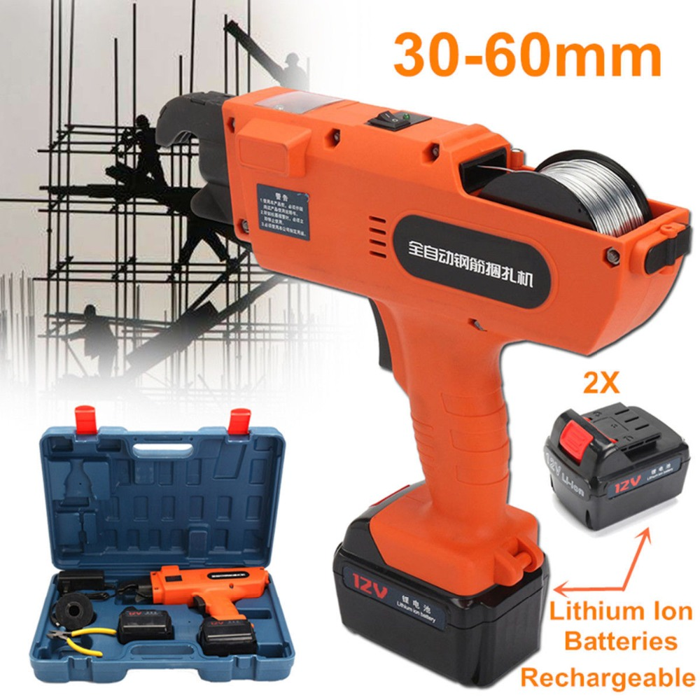 Portable Belt Strapping Machine Automatic Handheld Rebar Tier Tool Building Tying Machine Strapping 30-60mm цена