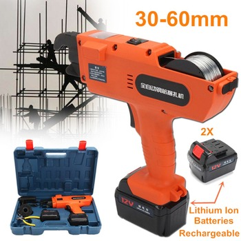 Portable Belt Strapping Machine Automatic Handheld Rebar Tier Tool Building Tying Machine Strapping 30-60mm