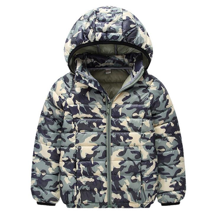 Baby Boy Coat Aşağı Ceketler Kamuflaj Parkas Kalın Kış Sıcak Çocuk Kabanlar Giyim Çocuk Kapşonlu Giyim Q20612