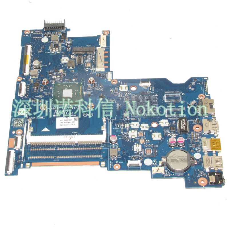 NOKOTION Original 815249-501 815249-001 Laptop motherboard For HP 15-AC N3150 CPU ABQ52 LA-C811P Mainboard works nokotion original laptop motherboard abl51 la c781p 813966 501 for hp 15 af mainboard full test works