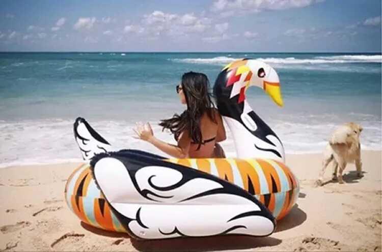 190*190*130cm Inflatable Flamingo   Air Mattress Swimming Swan Pool Float Swim Ring Seat Boat Raft Summer Water Fun Pool Toys  children animal pool floats inflatable animal floating kids toys swimming boat air mattress beach bed water boat 12 animals