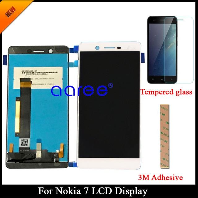 100% נבדק Gurantee כיתה AAA LCD תצוגה עבור Nokia 7 עבור Nokia 7 N7 LCD מסך מגע Digitizer עצרת + מזג זכוכית