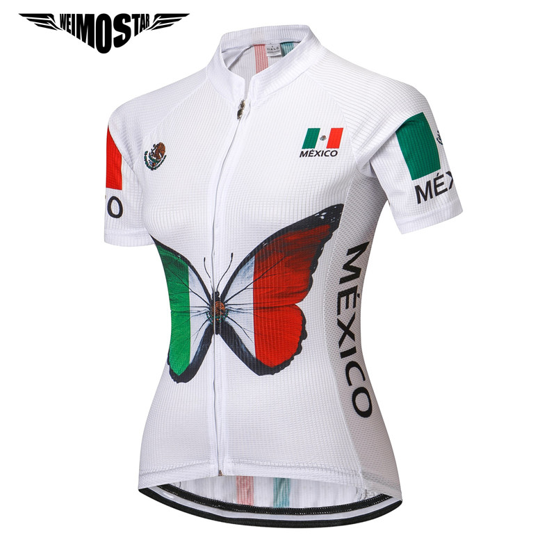 5269f150e Mexico 2018 Women Summer Cycling Jersey Team Racing Bicycle Cycling  Clothing Ropa Ciclismo Breathable Uniform MTB Bike Jersey-in Cycling Jerseys  from Sports ...