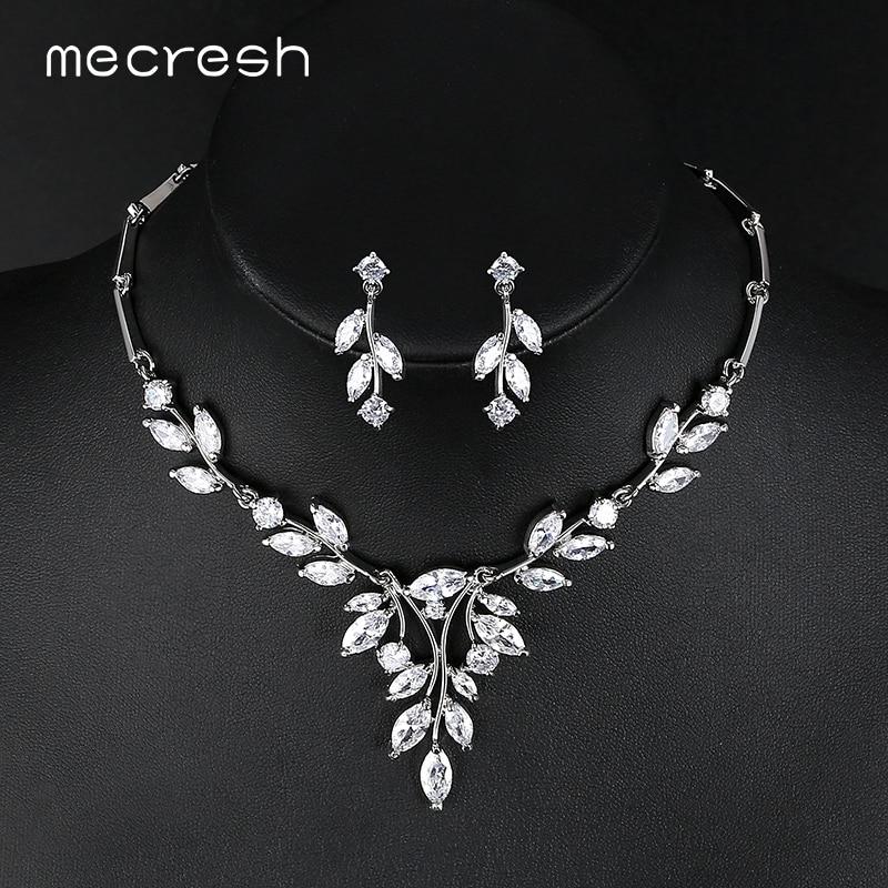 Mecresh Noble Cubic Zirconia Bridal Jewelrys