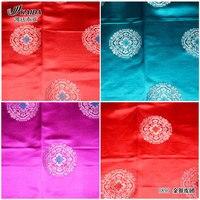 silk brocade jacquard custom silk cheongsam beautiful quilt fabrics leather gold and silver clusters/100*75cm