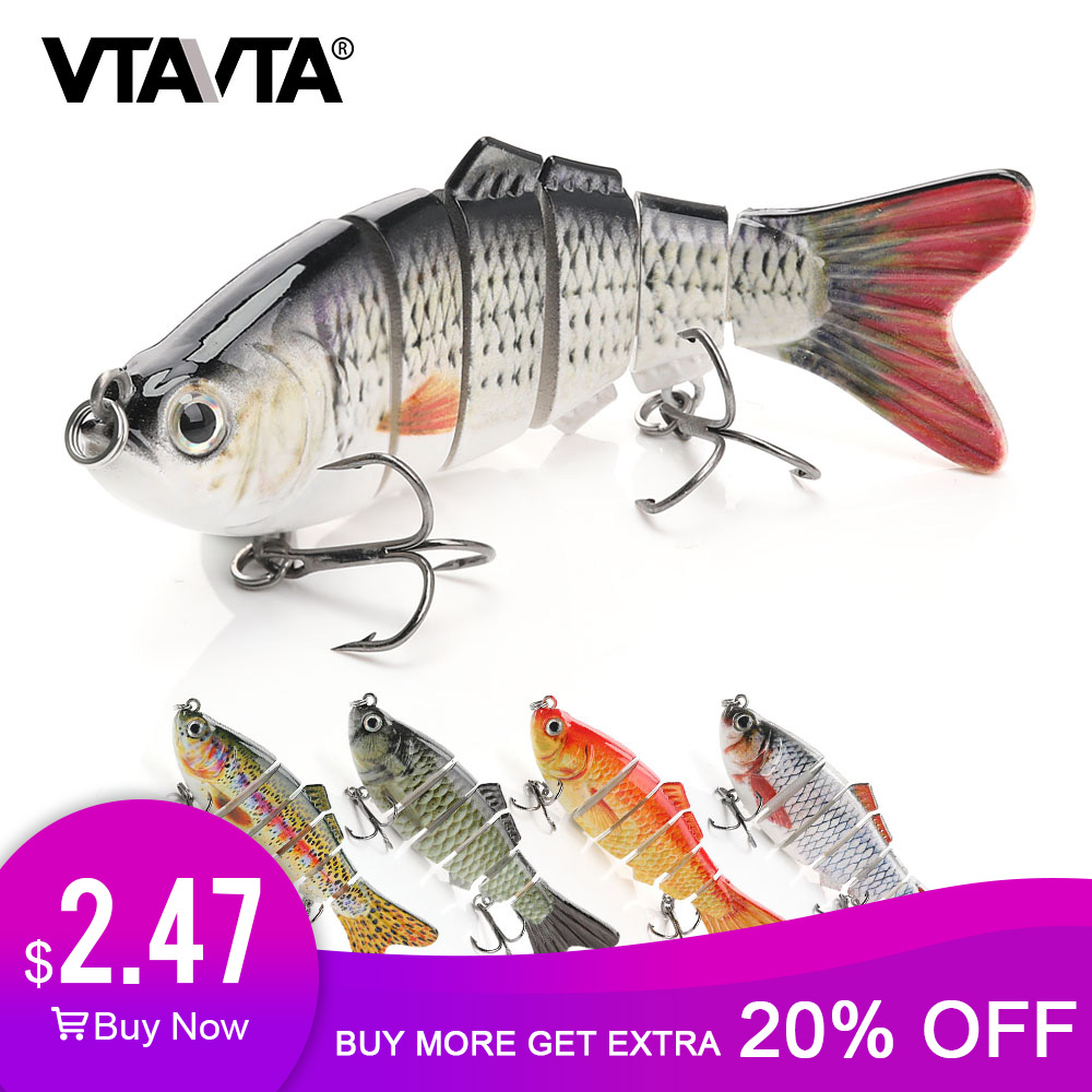 VTAVTA Sinking Wobblers Fishing Lures 10cm 17.5g 6 Mulit Jointed Swimbait Hard Artificial Bait Pike/Bass Fishing Lure Jerkbait