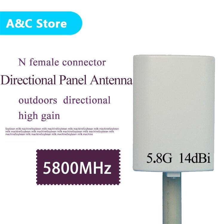 5.8G 14dBi wifi antenne extérieure petit panneau antenne N femelle connecteur mural patch panneau plat antenne avec 10 mètres câble - 2