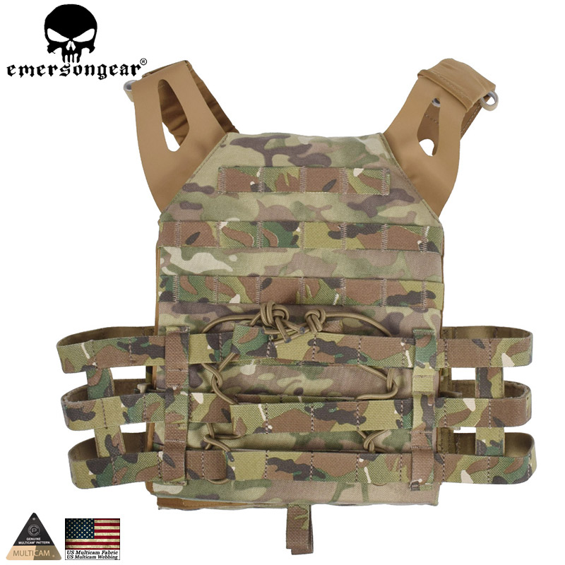 EMERSONGEAR Tactical Vest MOLLE JPC Vest Airsoft Paintball Molle Vest with Chest Protective Plate Carrier Multicam EM7344 emersongear lbt2649b hydration carrier for 1961ar molle backpack military tactical bags hunting bag multicam tropic arid black