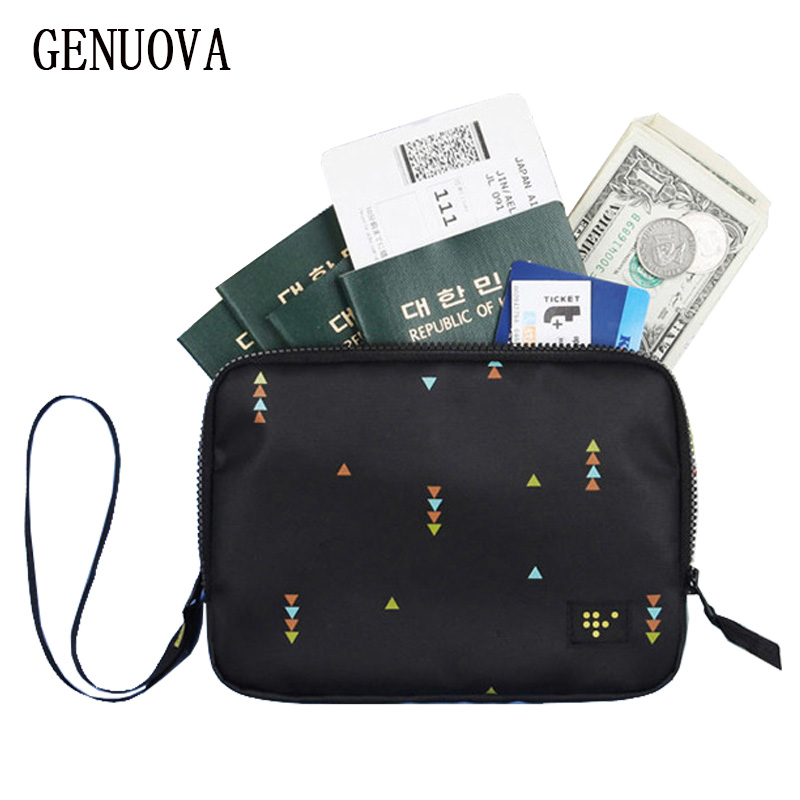 Double-layer Passport Bag Wallet Men And Women Travel Hand Holding Documents ID Holders Multi Pockets Organizer Credit Card Pack