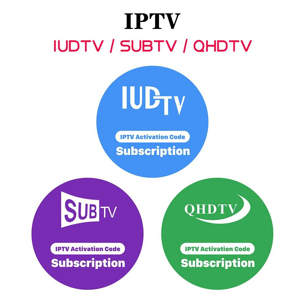 Europe IPTV Subscription QHDTV IUDTV SUBTV 1 year Code for Android m3u Smart tv Arabic France