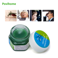 1pcs Cool Cream 100% Original Thailand Herbal Green Ointment Itching Refresh Headache Dizziness Pain Medical Plaster P0006