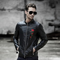 Europe and the United States men's PU leather jacket collar coat Men's leather Men's leather