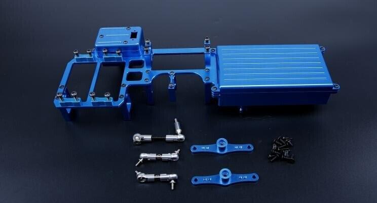 CNC alloy equipment box set dual servo tray for Losi 5ive T Rovan LT