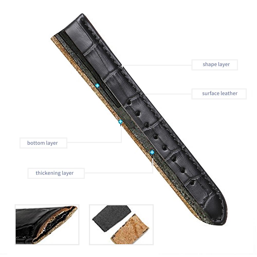 istrap крокодил узор из натуральной коровьей кожи с кожаным ремешком ремешок для часов ремешок размер 12 13 14 16 18 19 20 21 22 24 мм