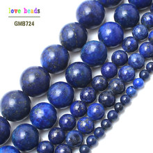 Pedra Natural Lapis Lazuli Rodada Contas Loose 15
