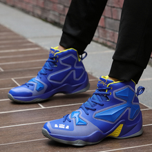 2019 Thestron High Top Mens Basketball Sneakers PU Leather Boys Sport Boots Trainers Footwear Anti-Slip Shoes For Men
