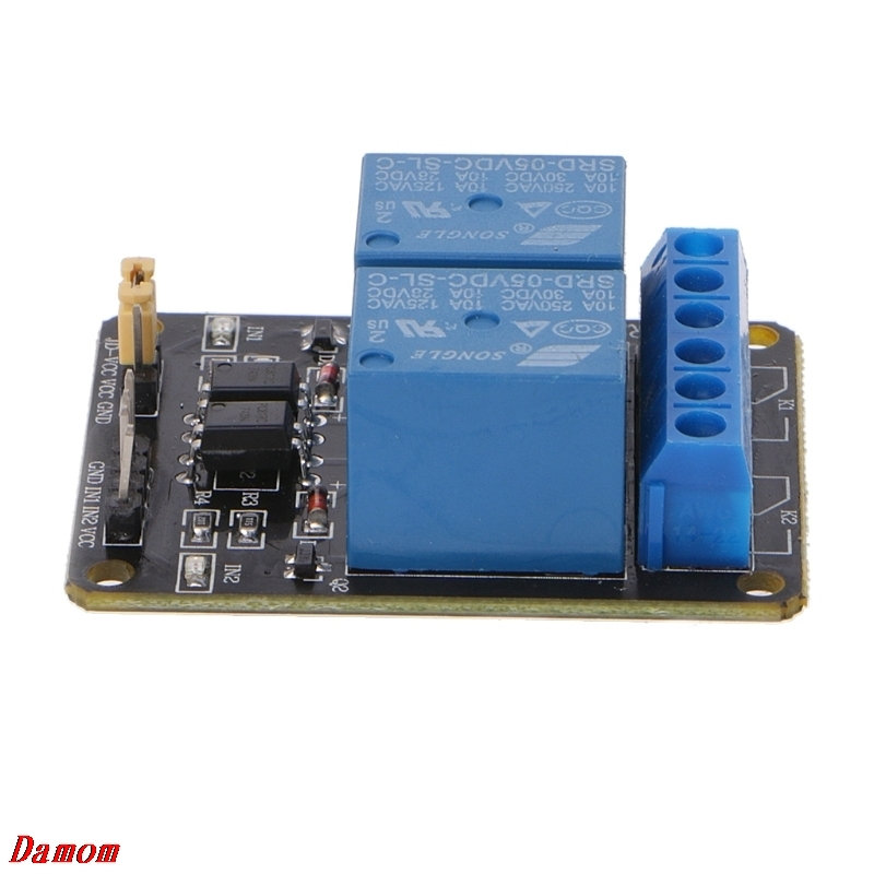 2 Channel DC 5V Relay Switch Board Module for Arduino Raspberry Pi PIC ARM